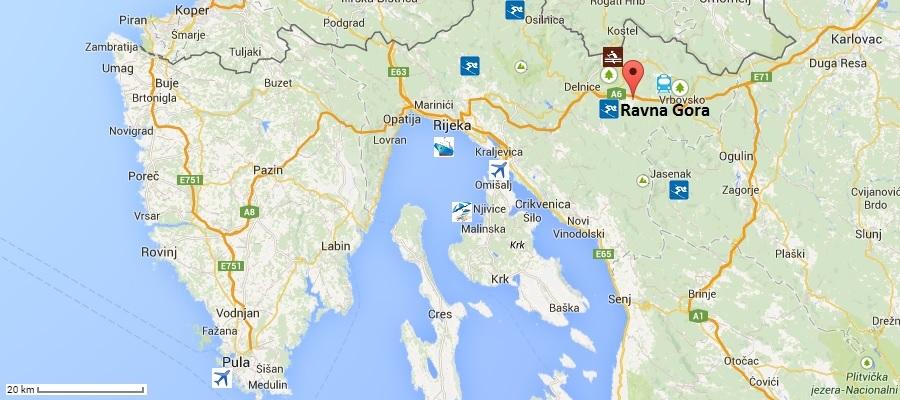 Karta Ravna Gora Karta